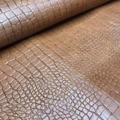 Кожа РД, тиснение под крокодила, 1.0-1.2 мм, цвет TAN, COCCO Bombato, ARTIGIANO DEL CUOIO, Италия