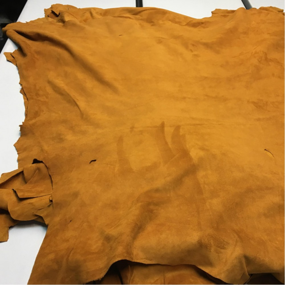 Кожа велюр, рыжий, 0,5 мм, ИТАЛИЯ