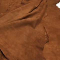 Кожа велюр, коричневый, 0,5 мм, ИТАЛИЯ