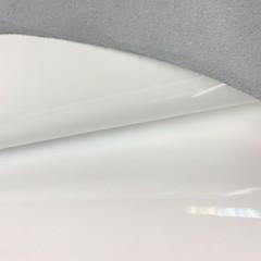 Кожа телёнка лаковая, 1.0-1.2 мм, белый, Италия