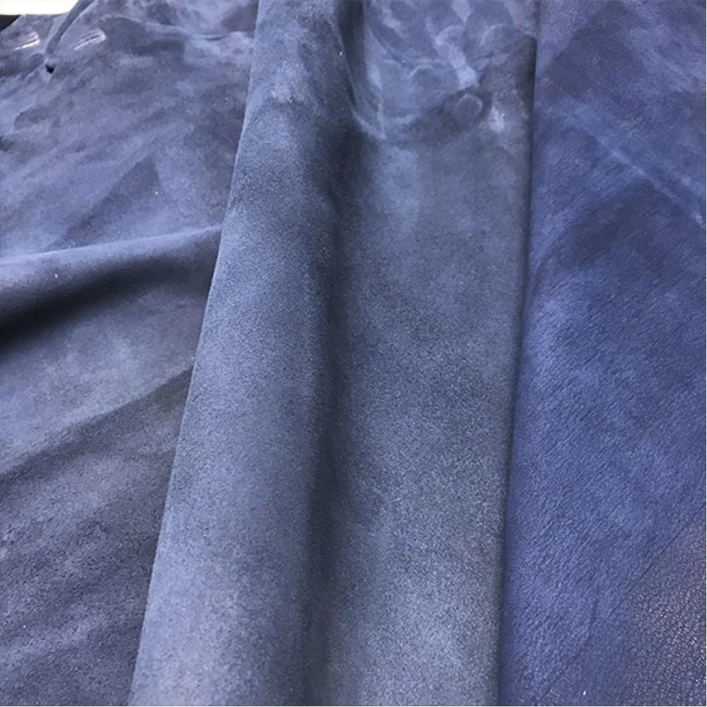 Велюр МРС, 0,8 - 1,0 мм, цвет джинс, Италия
