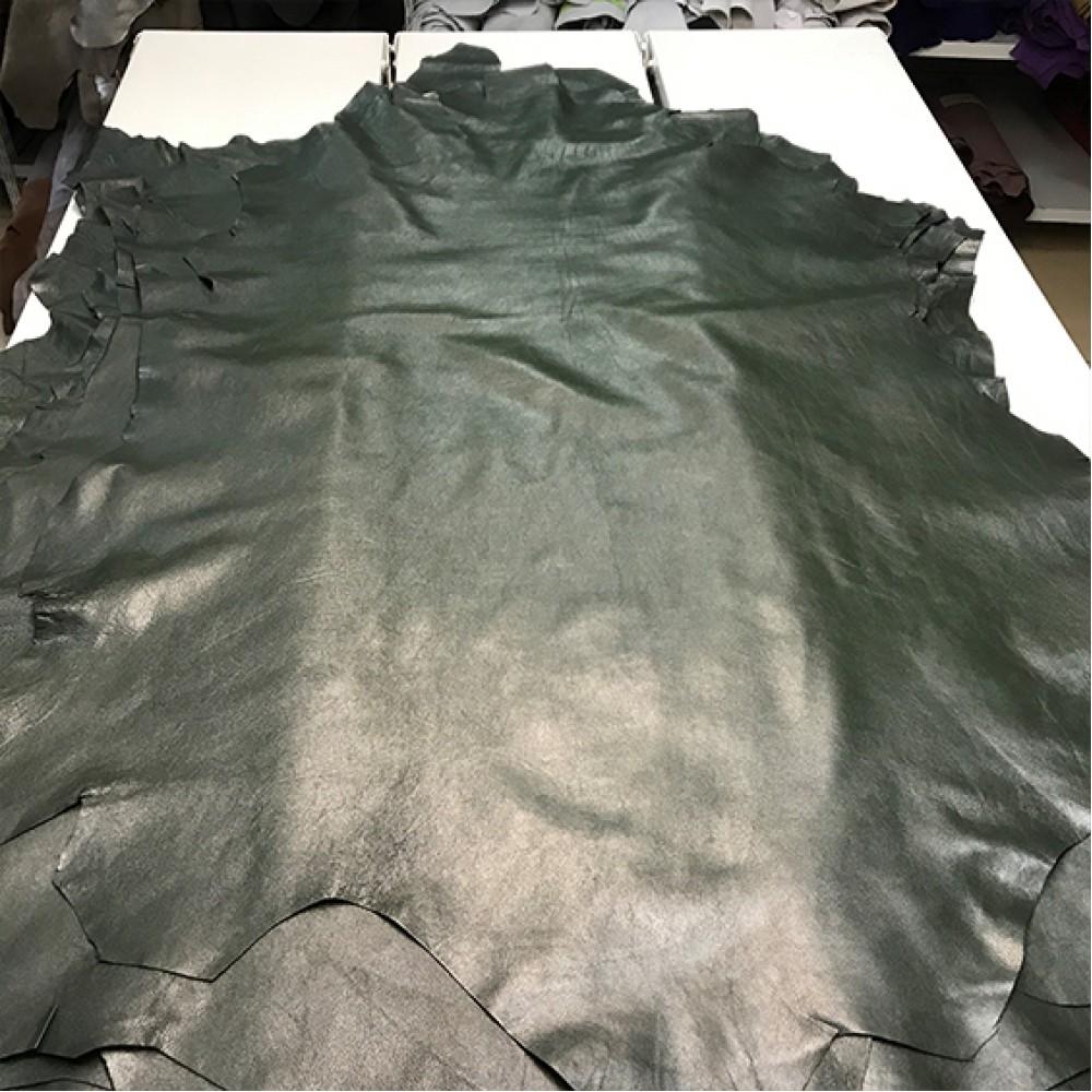 Наппа-метис, тёмно-зелёный, 0.8 мм, ИТАЛИЯ