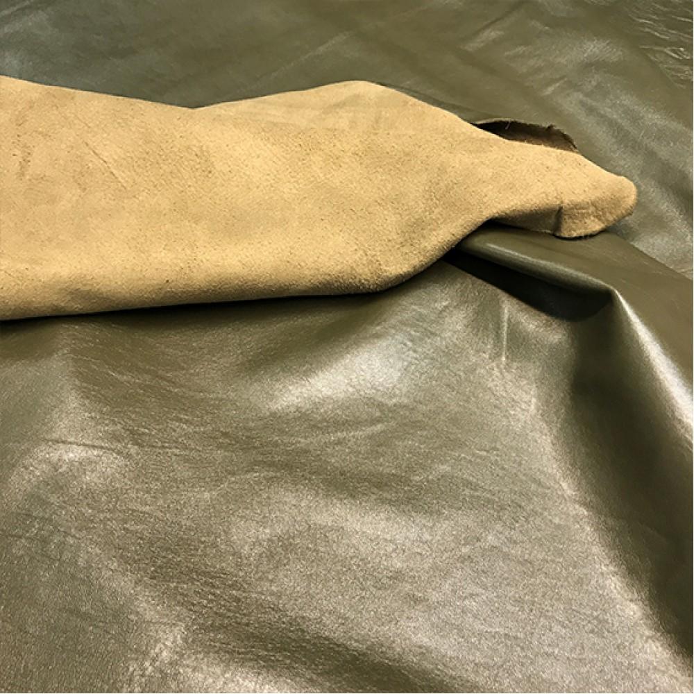 Наппа-метис, цвет хаки, 0.8 мм, ИТАЛИЯ
