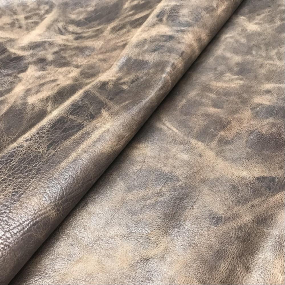 Кожа метис, коричневая с PullUp, 1.2-1.4 мм, ИТАЛИЯ