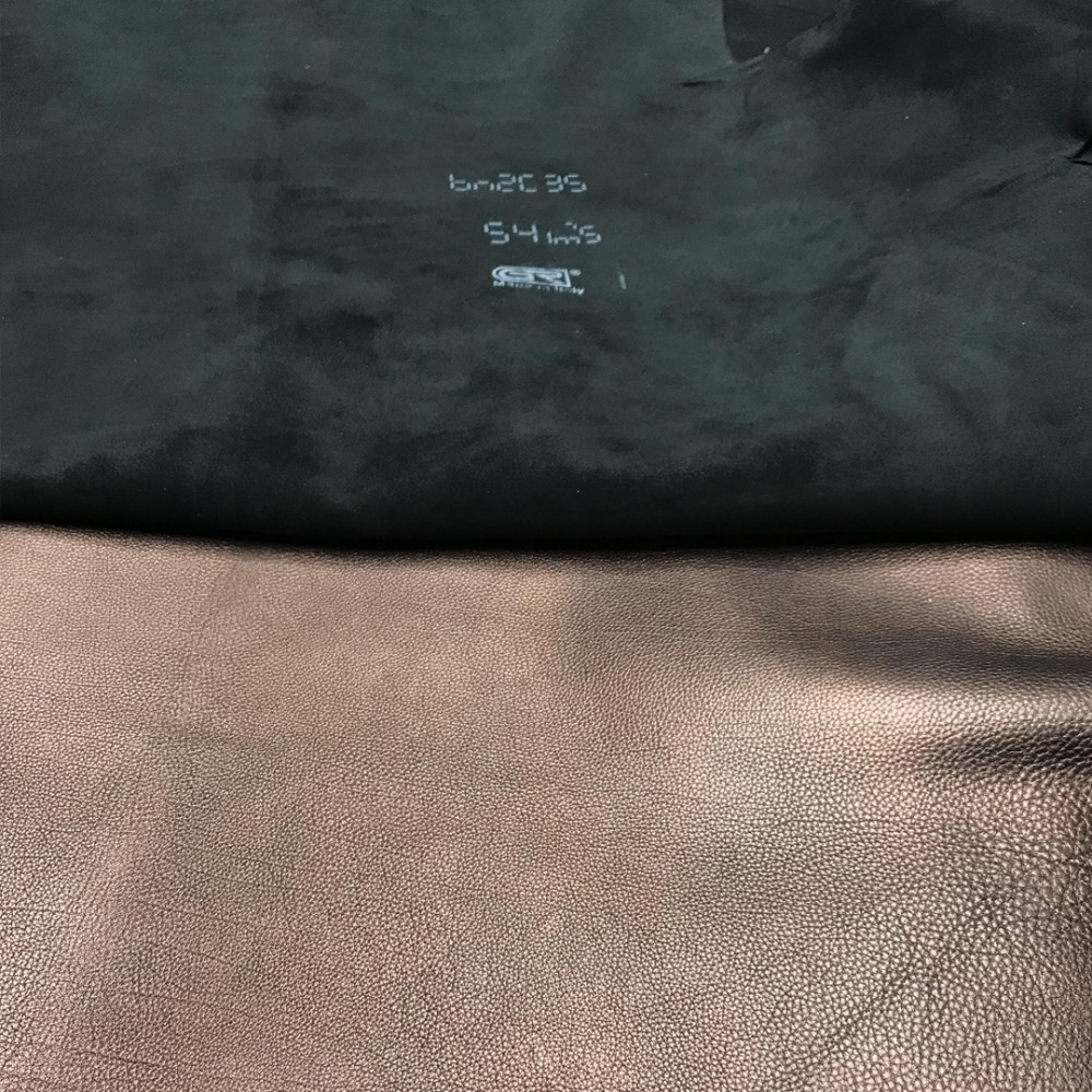 Кожа телёнка, флотер, 0.8 мм, цвет черная медь, RUSSO DI CASANDRINO, Италия