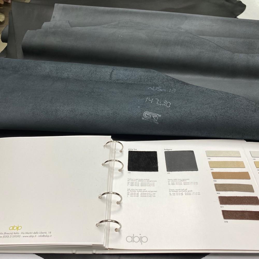 Кожа КРС, 1.3-1.5 мм, цвет чёрный, GR, PETROCCHI, Италия