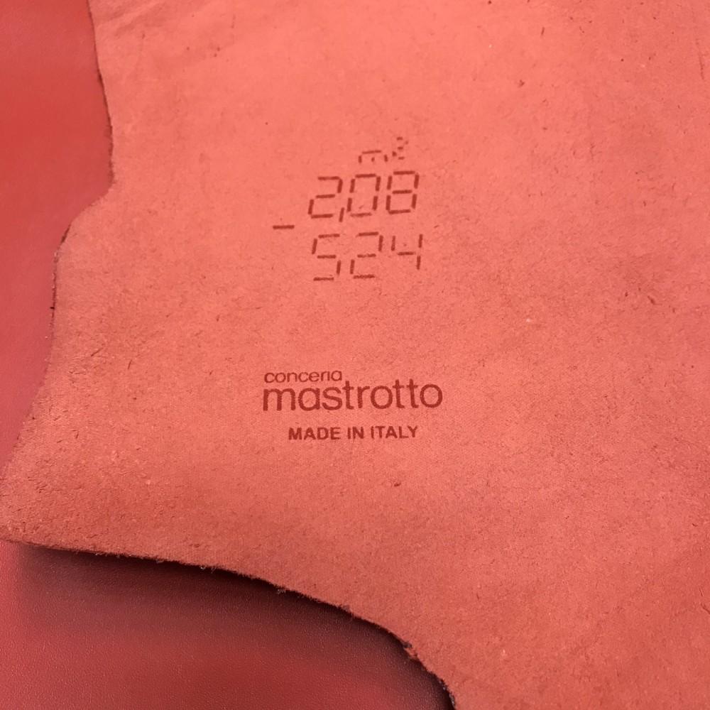КРС гладкий, 1.1-1.3 мм, TRILLCOLORS, цвет Heat, MASTROTTO, Италия