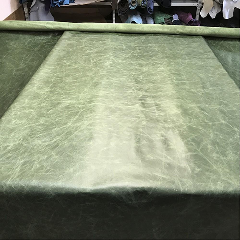 КРС с эффектом Pull up, 1,0 мм, TUSCANIA, цвет GREEN, MASTROTTO, Италия
