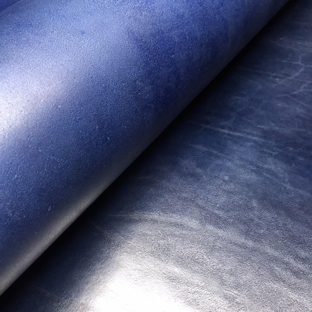 Плечи растительного дубления, 2.8-3.0 мм, цвет 906 синий, MEDUSA, MONTANA, Италия