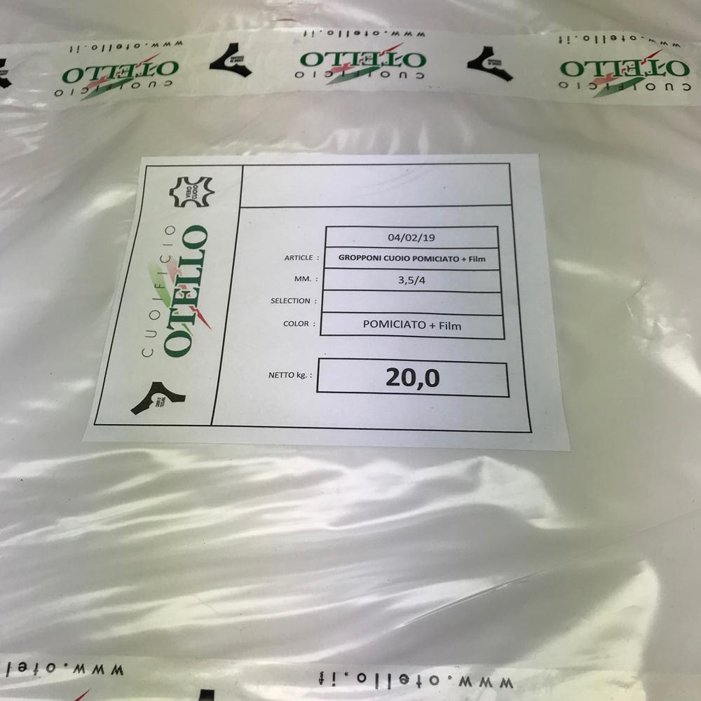 Чепрак 3.5/4.0 шлифованный с плёнкой, CUOIFICIO OTELLO, Италия
