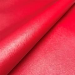 КРС с тиснением Saffiano, красно-малиновая, 1.0-1.2 мм, ИТАЛИЯ