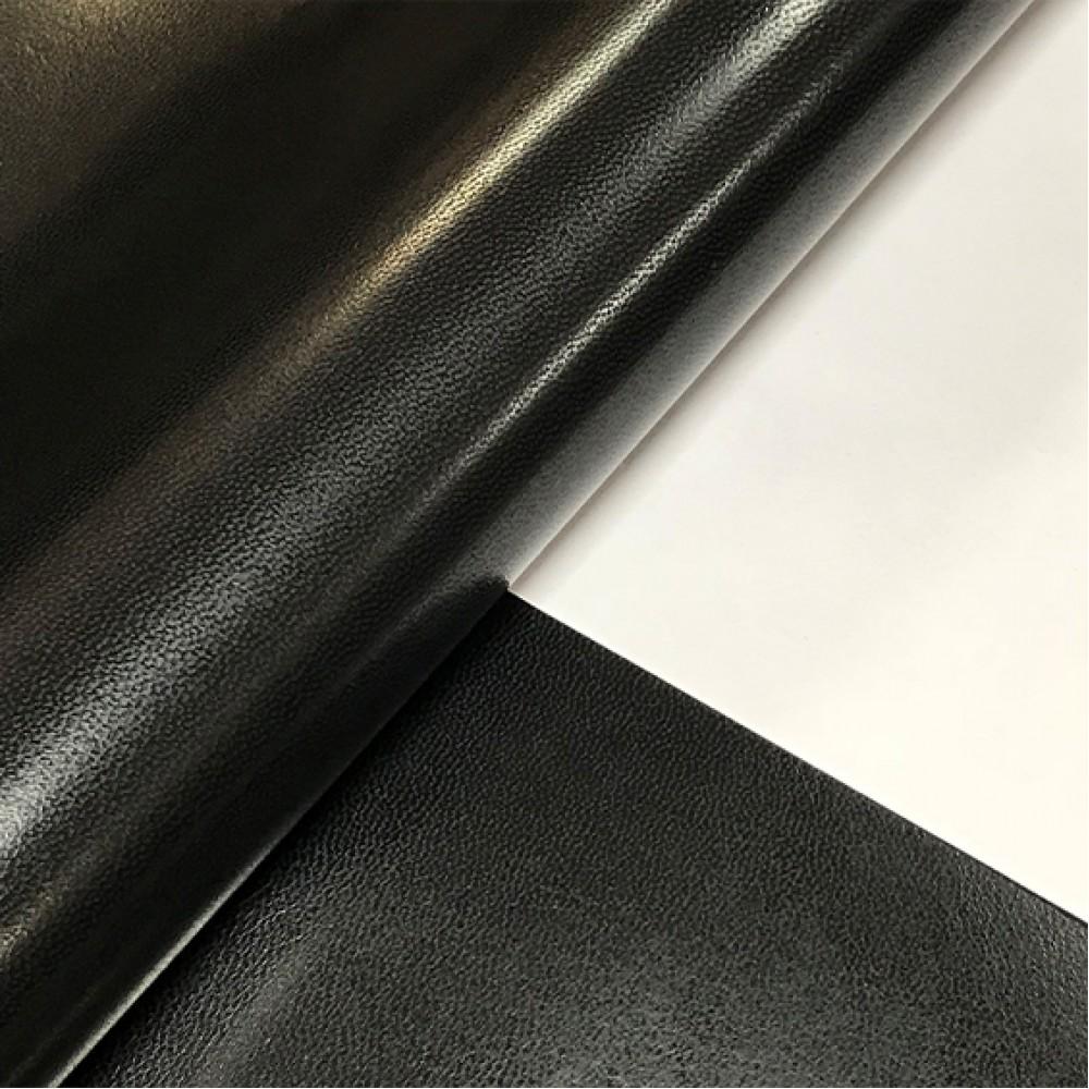 Кожподкладка из козы, чёрная, 0.8 мм, STEFANIA, Италия
