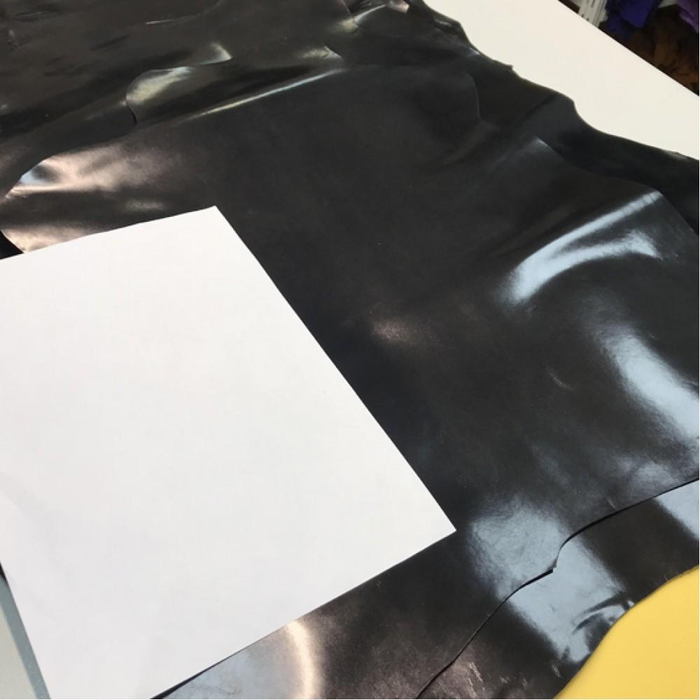 Кожа козы для обуви, цвет чёрный, 0,7 мм, STEFANIA, Италия