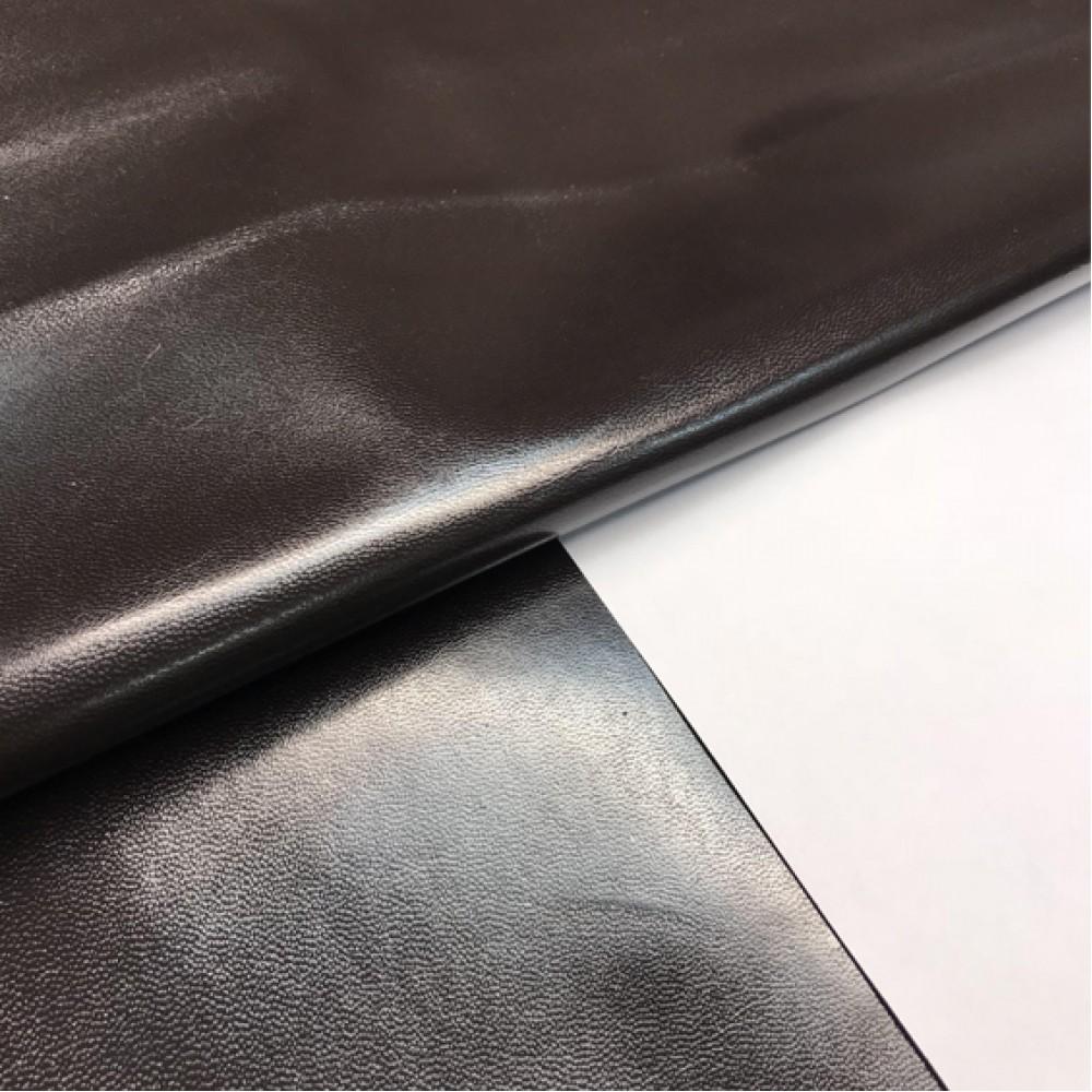 Кожподкладка из козы, тёмно-коричнневая, 0.8 мм, STEFANIA, Италия